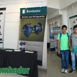 Estudiantes de la carrera de Ing. Industrial de la Universidad UTEPSA , estuvieron presentes en la EXPOTEC