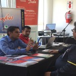 Luis Torrealba y Felipe Ibarra en las mesas de consulta Técnica directa del Cliente al Fabricante en la Marca DANFOSS