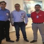 Luis Torrealba (Danfoss), Oscar Atehortua (Sealco) y Felipe Ibarra (Danfoss)